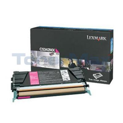 LEXMARK C534 TONER CARTRIDGE MAGENTA 7K